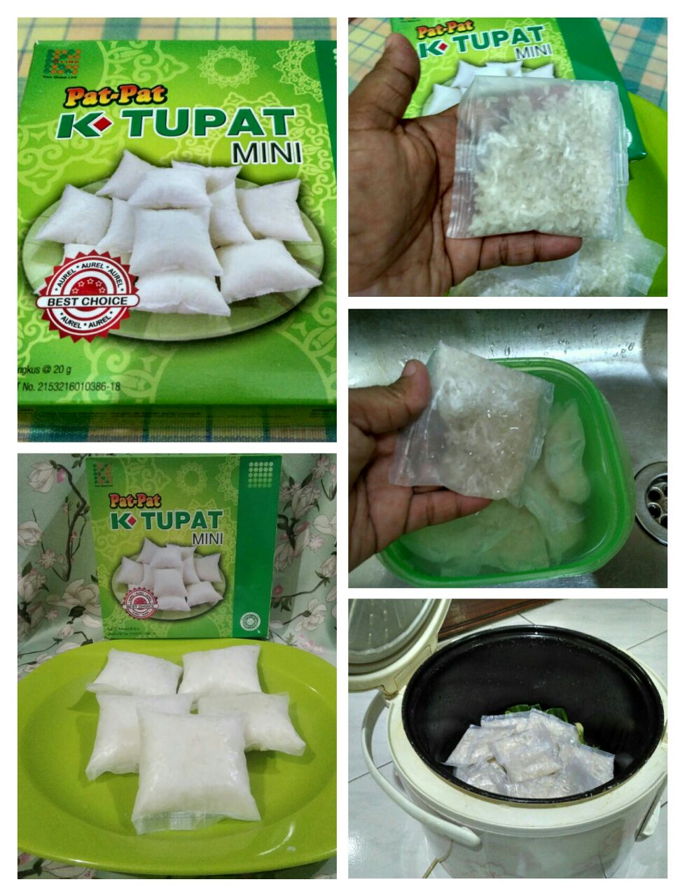 cara masak ketupat