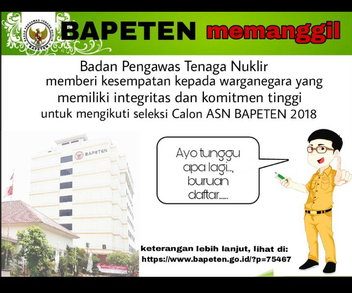 lowongan kerja BAPETEN