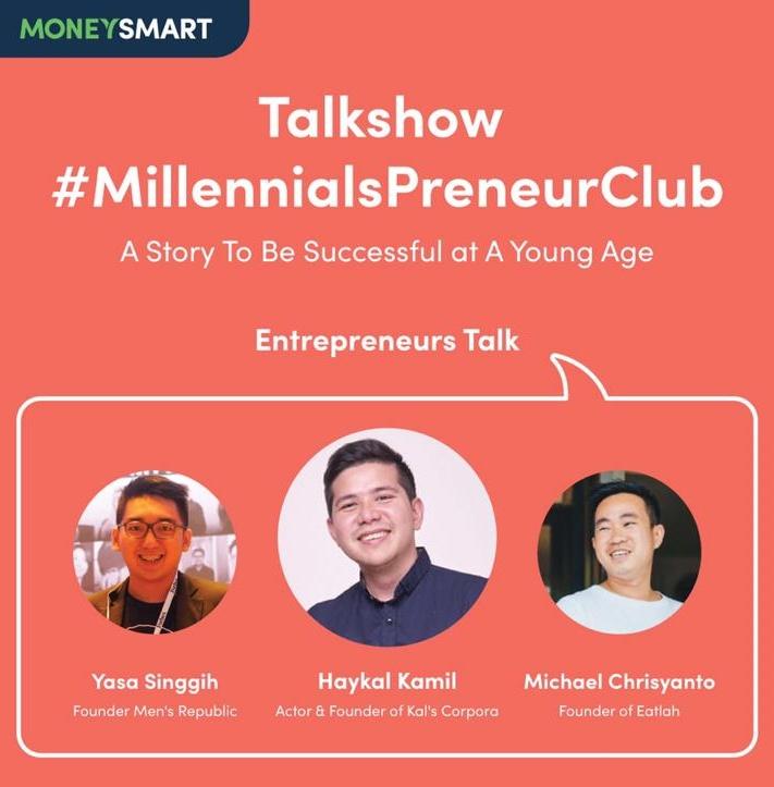 Talkshow Millenials Preneur Club bersama MoneySmart.id