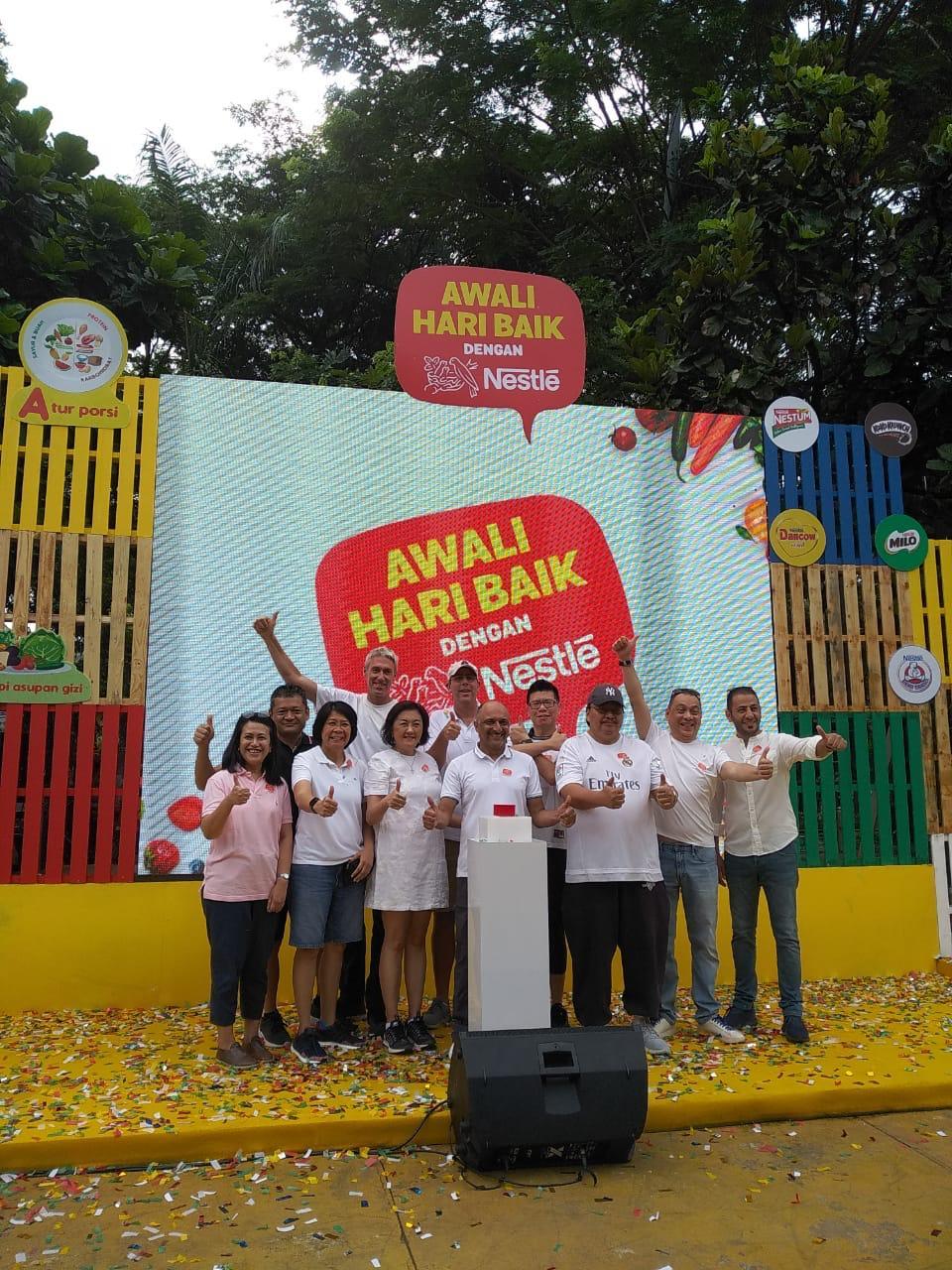 """Peluncuran kampanye """"Awali Hari Baik dengan Nestle"""""""