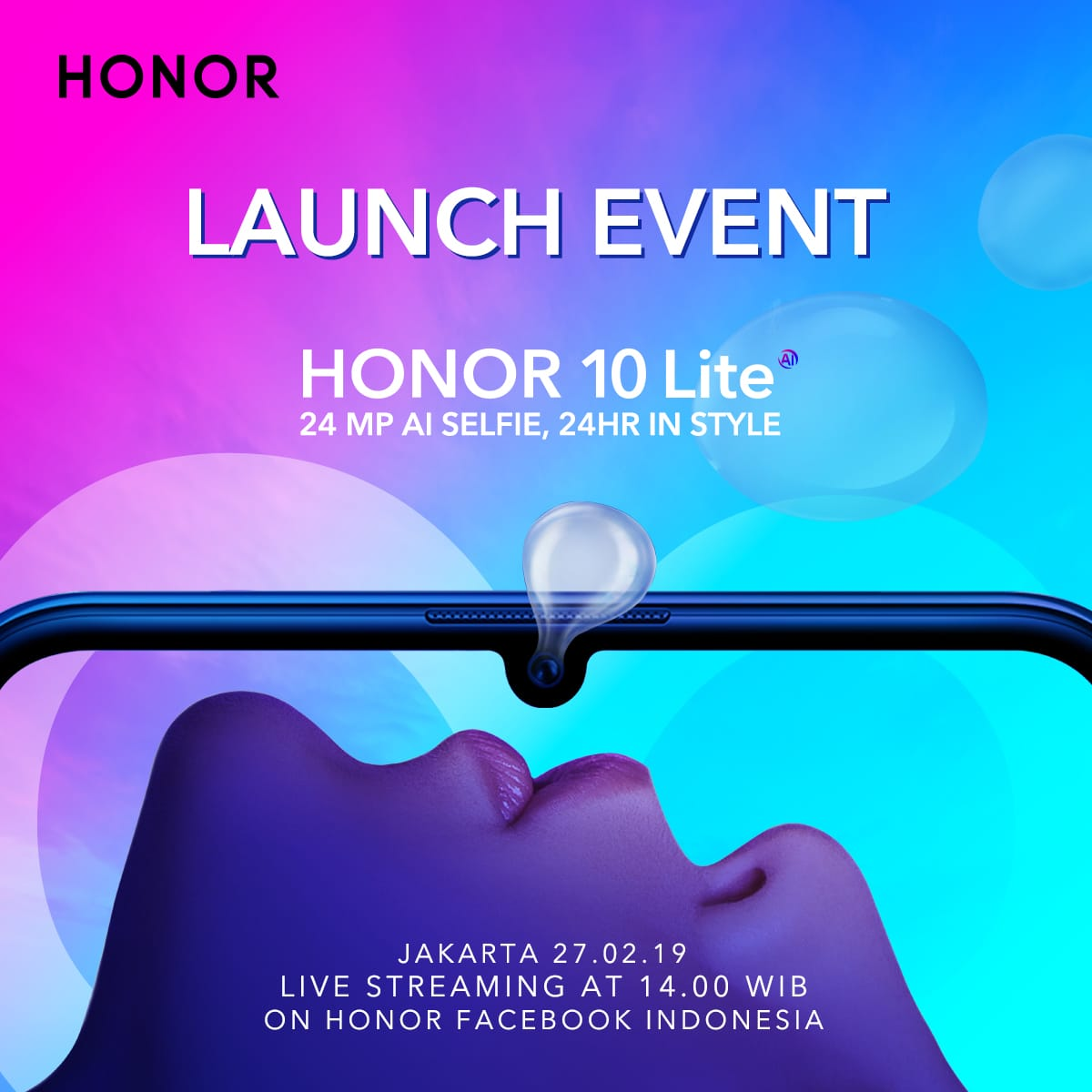 Launching smartphone terbaru HONOR 10 Lite