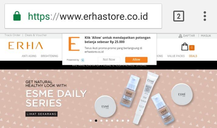 Beli secara online produk ERHA di Erhastore.