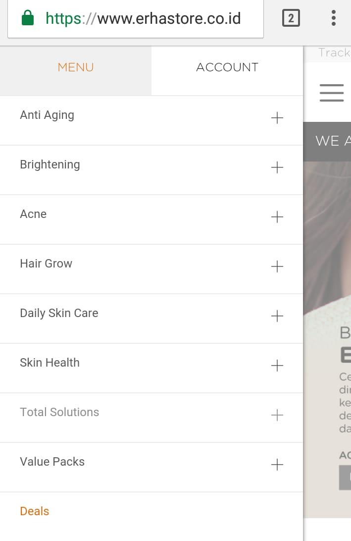 Beragam jenis perawatan rambut, kulit dan wajah ada di Erhastore.