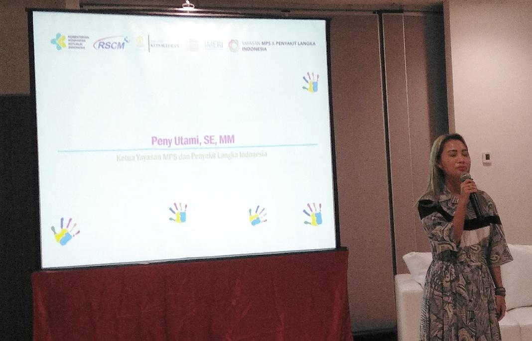 Peny Utami, SE, MM Ketua Yayasan MPS dan Penyakit Langka Indonesia