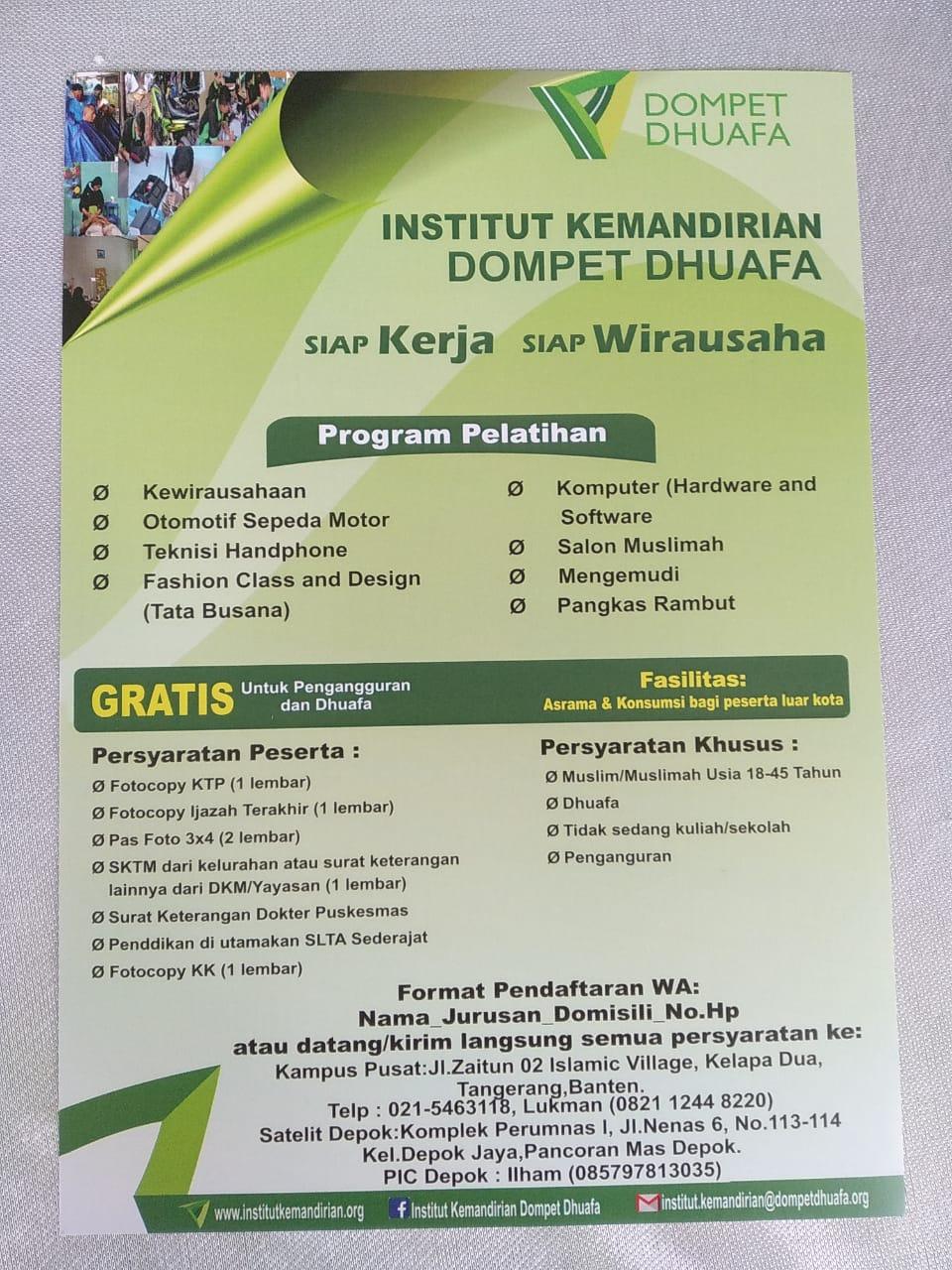 Ini cara untuk mendaftar di Pelatihan Kemandirian Wakayapa.