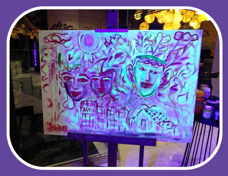 Hasil lukisan Seniman Betawi Sarnadi Adam
