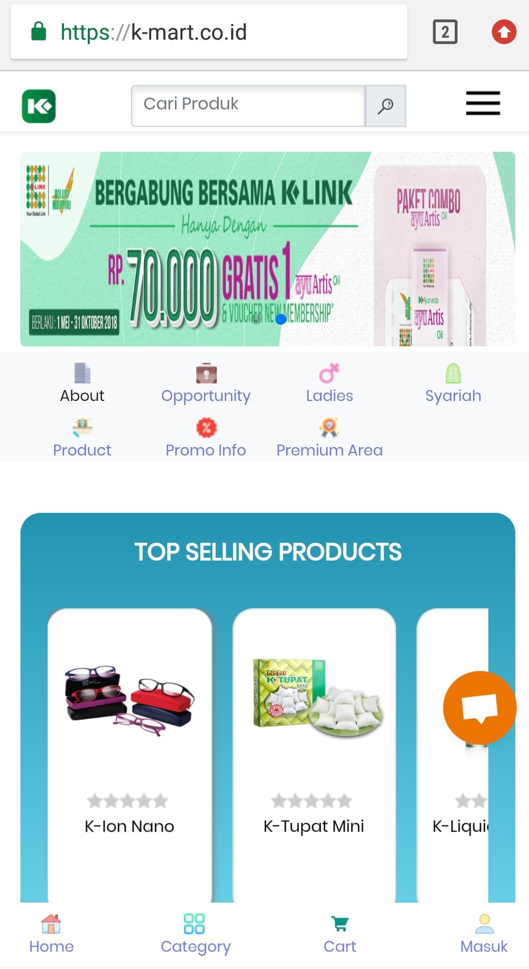 K-Mart Online Store, inovasi belanja online terbaru dari K-Link.
