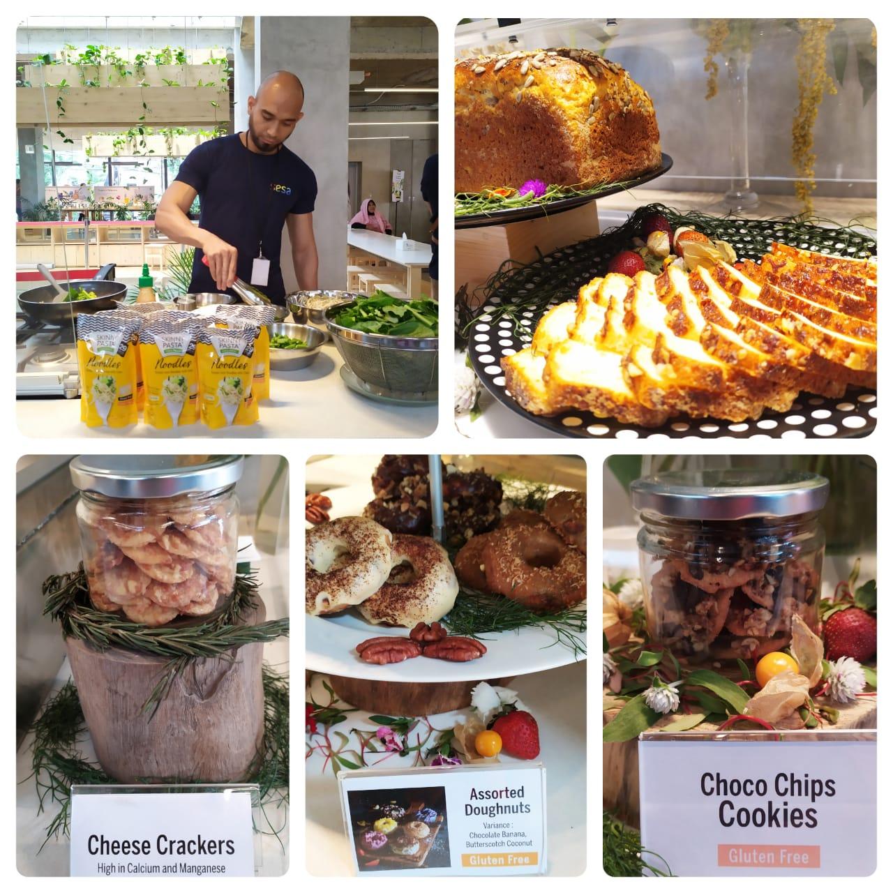 Contoh makanan sehat yang disediakan di SESA Experience Center