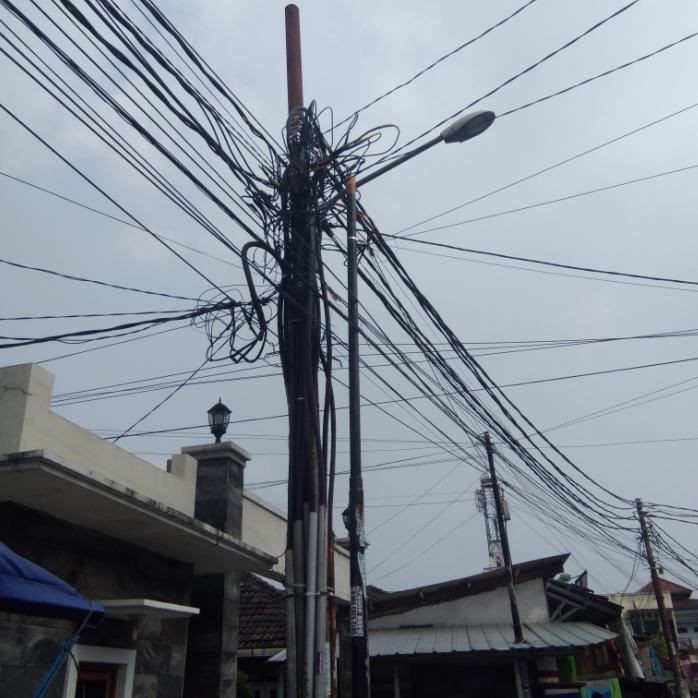 rangkaian kabel PLN