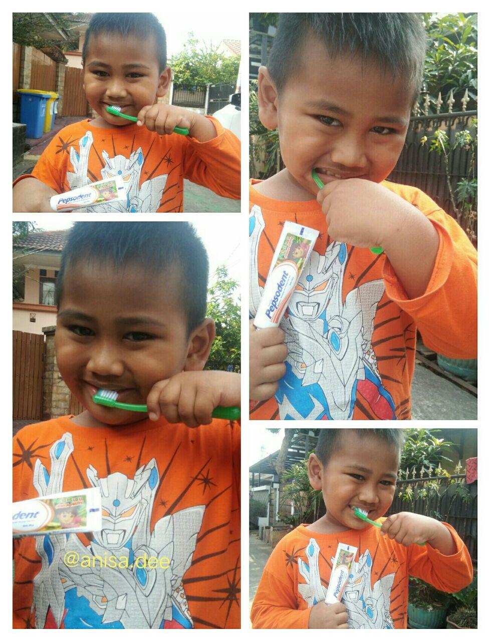 gigi susu anak bolong