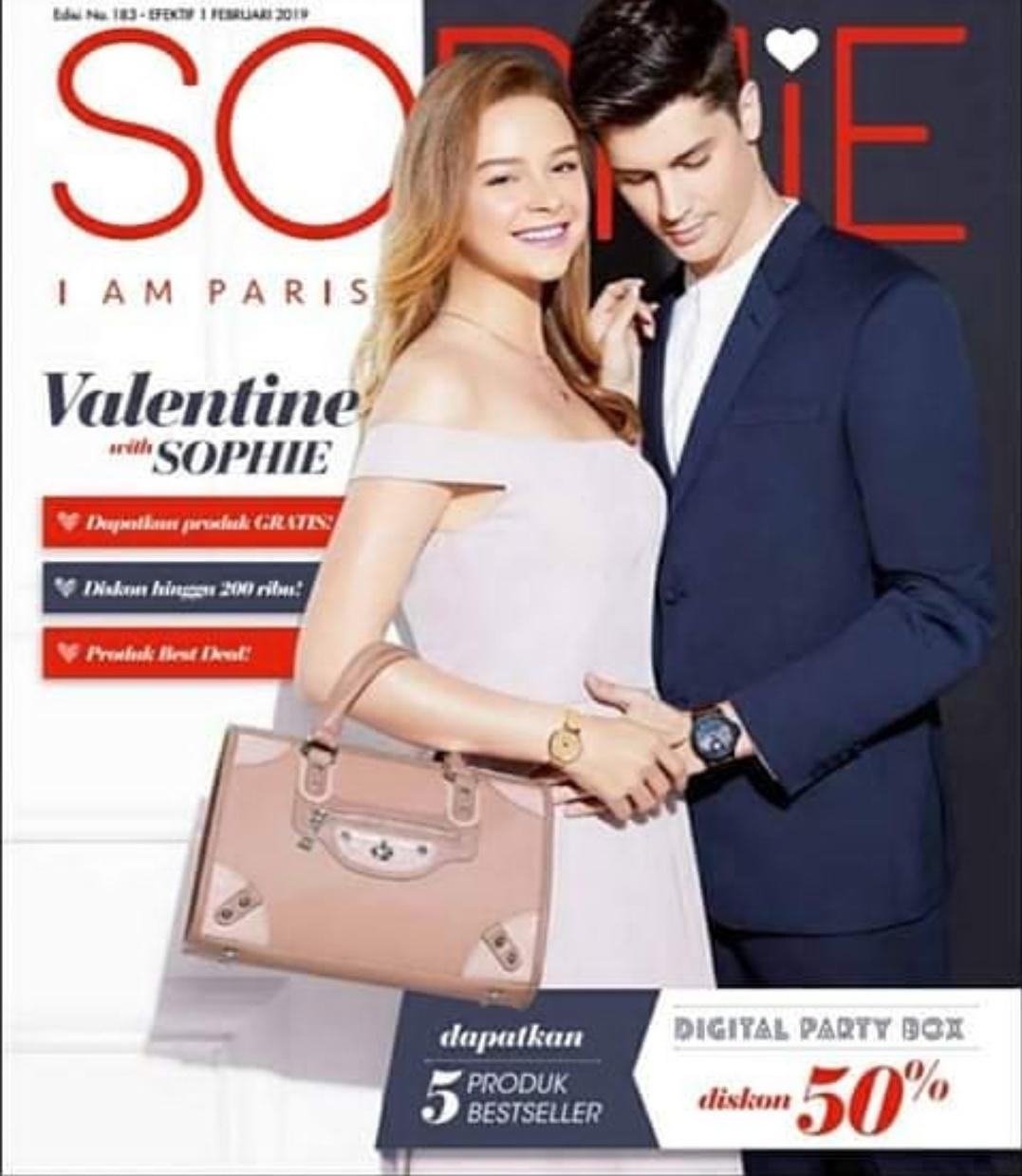 Katalog Februari dengan produk terbaru dari Sophie Paris.