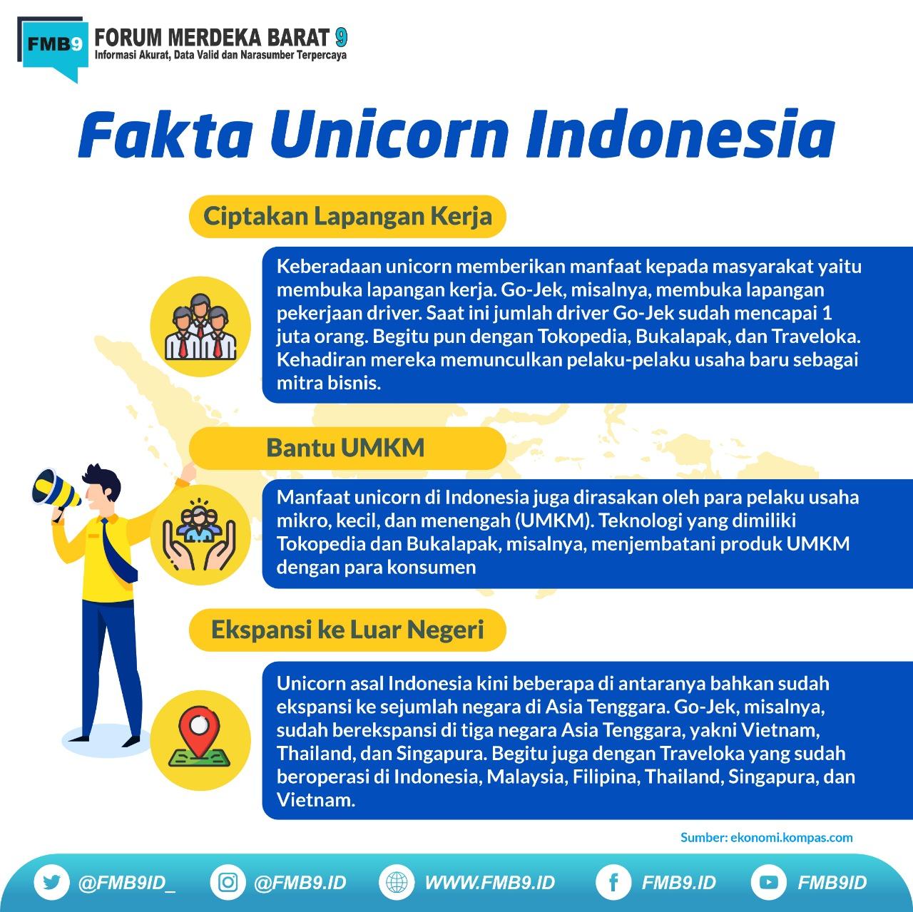 Banyaknya masyarakat yang terbantu dan terselesaikan permasalahannya dengan menggunakan layanan e-commerce mbuat Unicorn Indonesia berkembang pesat.