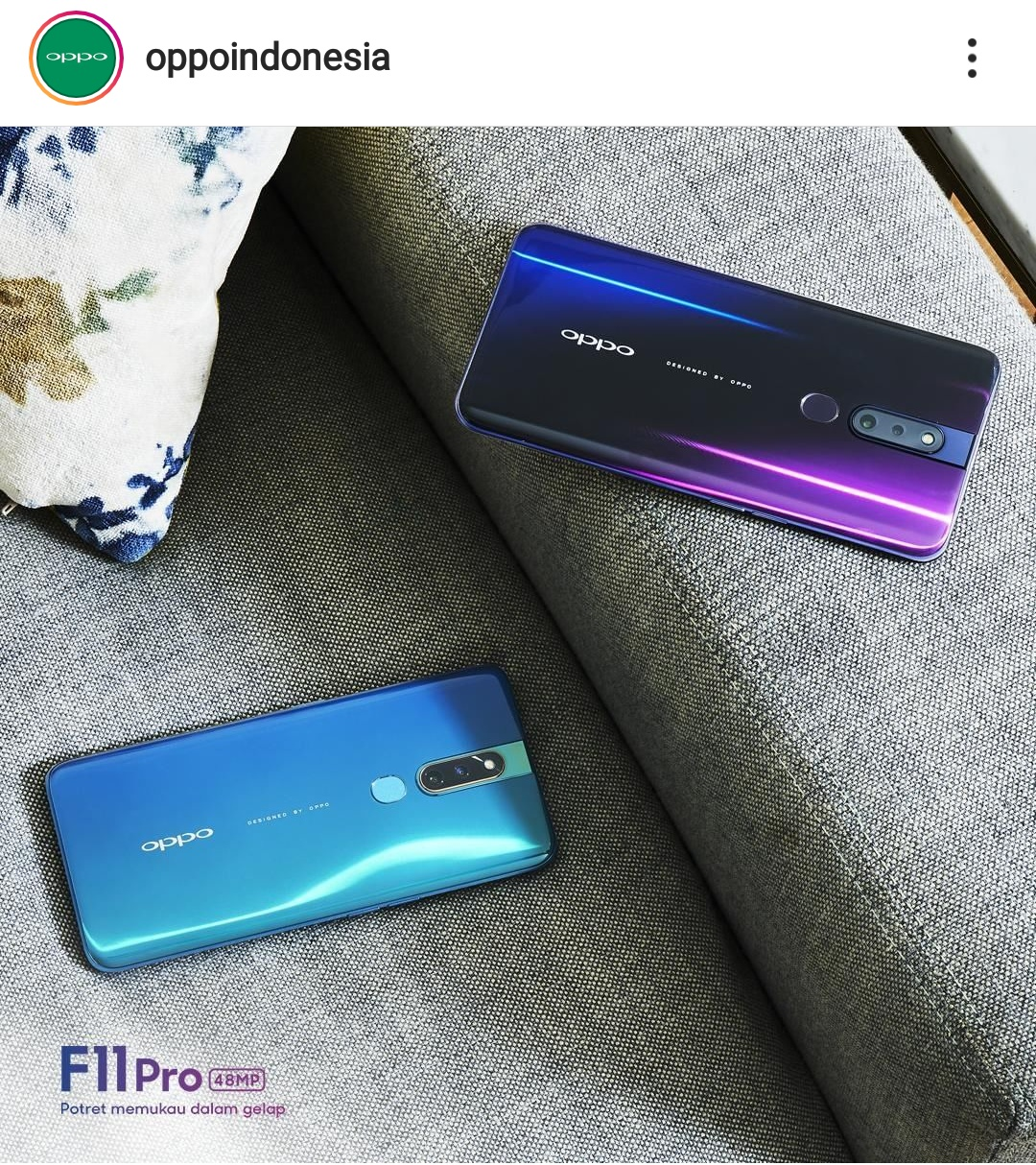 OPPO F11 Pro: Briliant Portrait in Low light