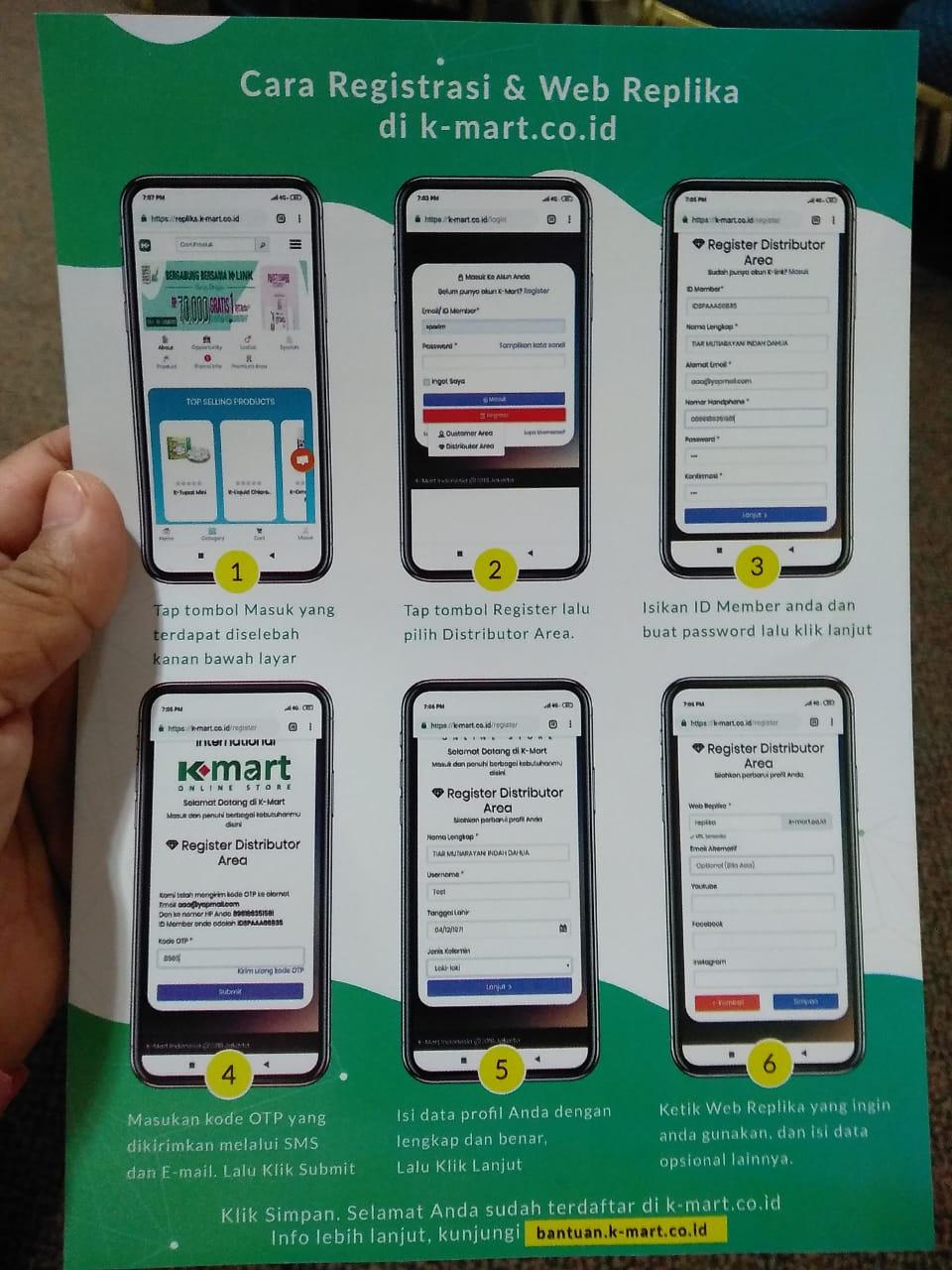 Penasaran dengan produk K-Link Indonesia, coba deh buka K-Mart Online Store.