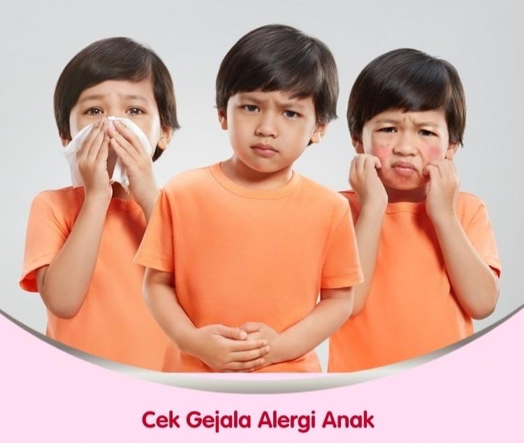 Perhatikan contoh alergi pada anak.