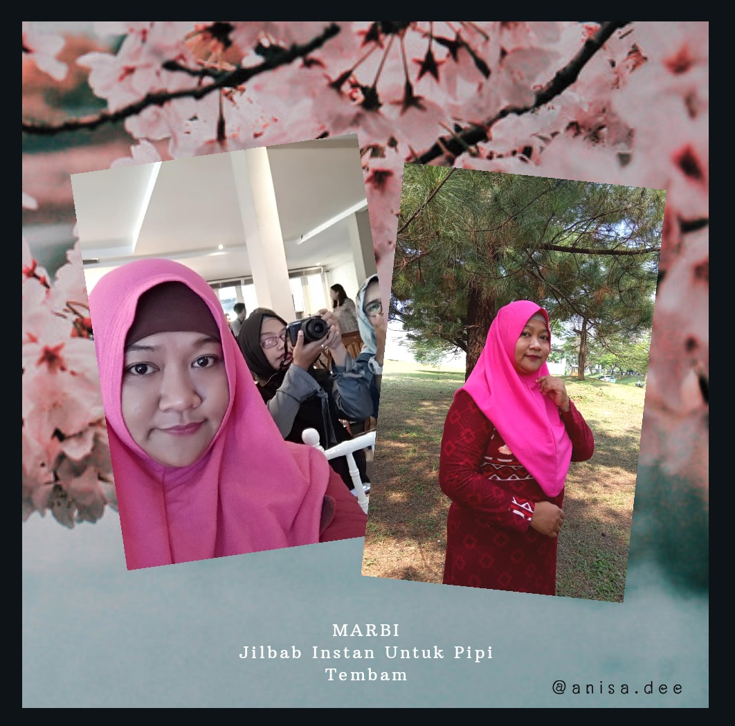 Marbi solusi Hijab instan untuk pipi tembem