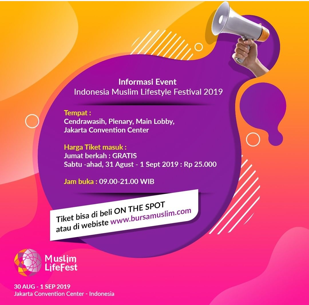 Info tiket Indonesia Muslim Lifestyle Festival 2019