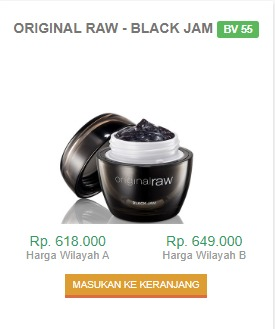 Harga Original Raw Black Jam