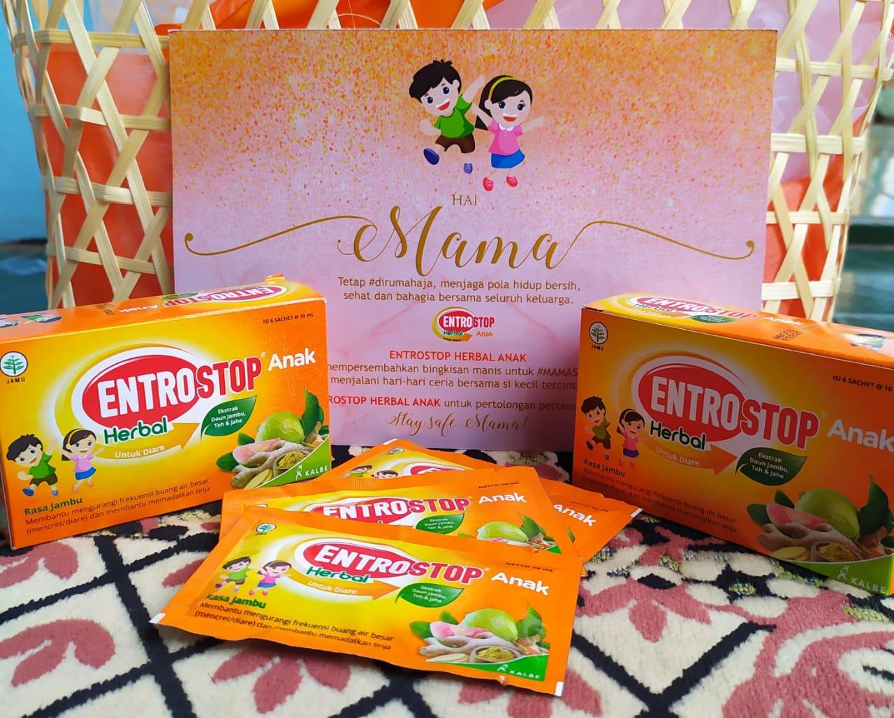 Mama siap hadapi masalah diare anak dengan Entrostop Herbal Anak