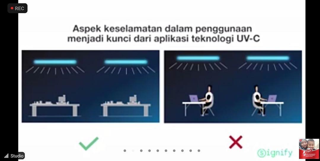 Ikuti aturan penggunaan sinar UV-C