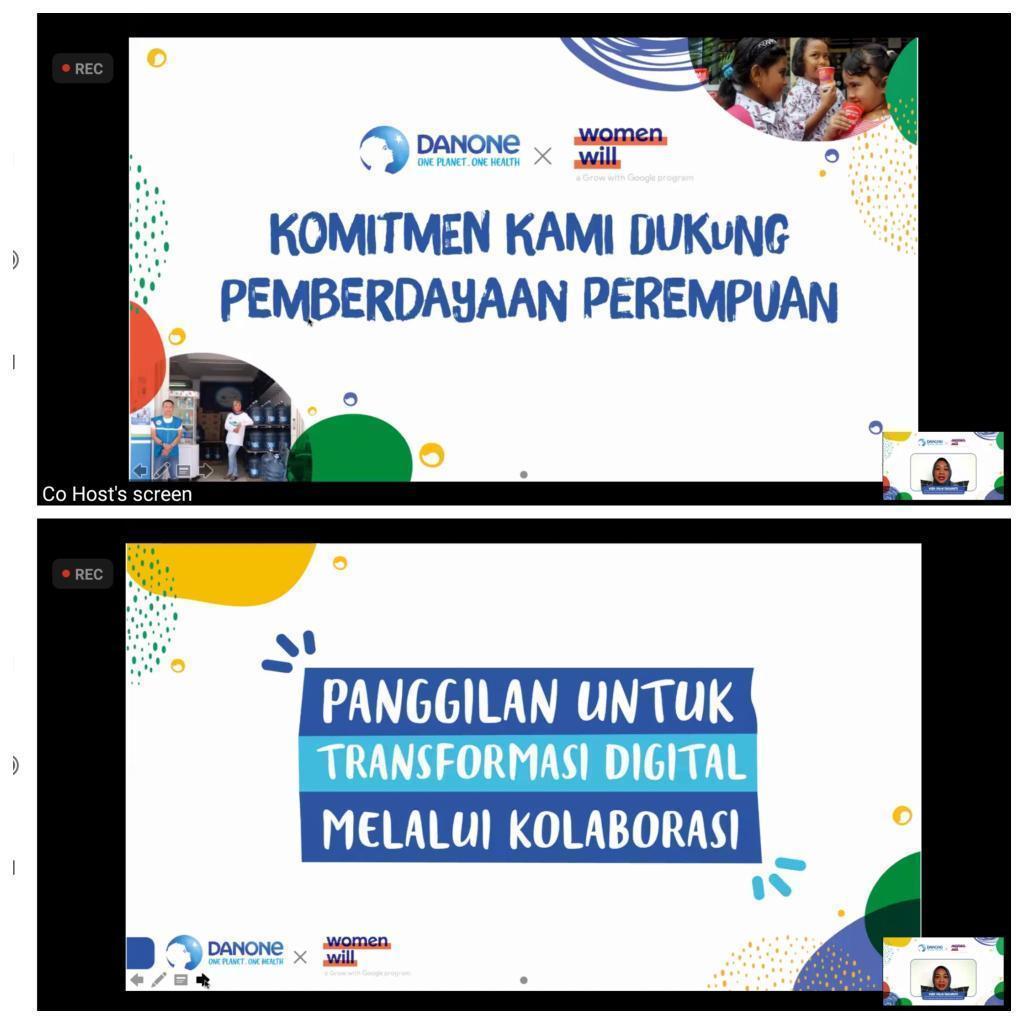 Peningkatan kualitas perempuan dengan Women Will Google dan Danone Indonesia