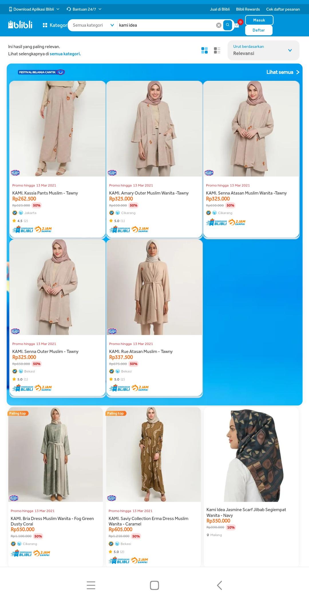Koleksi fashion Kamiidea di Blibli