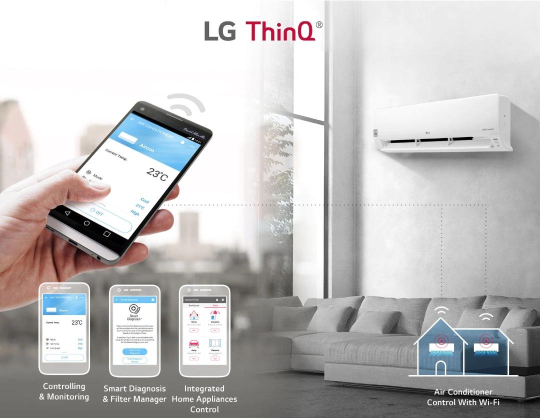 AC Inverter LG Dual Cool dengan teknologi LG ThinQ