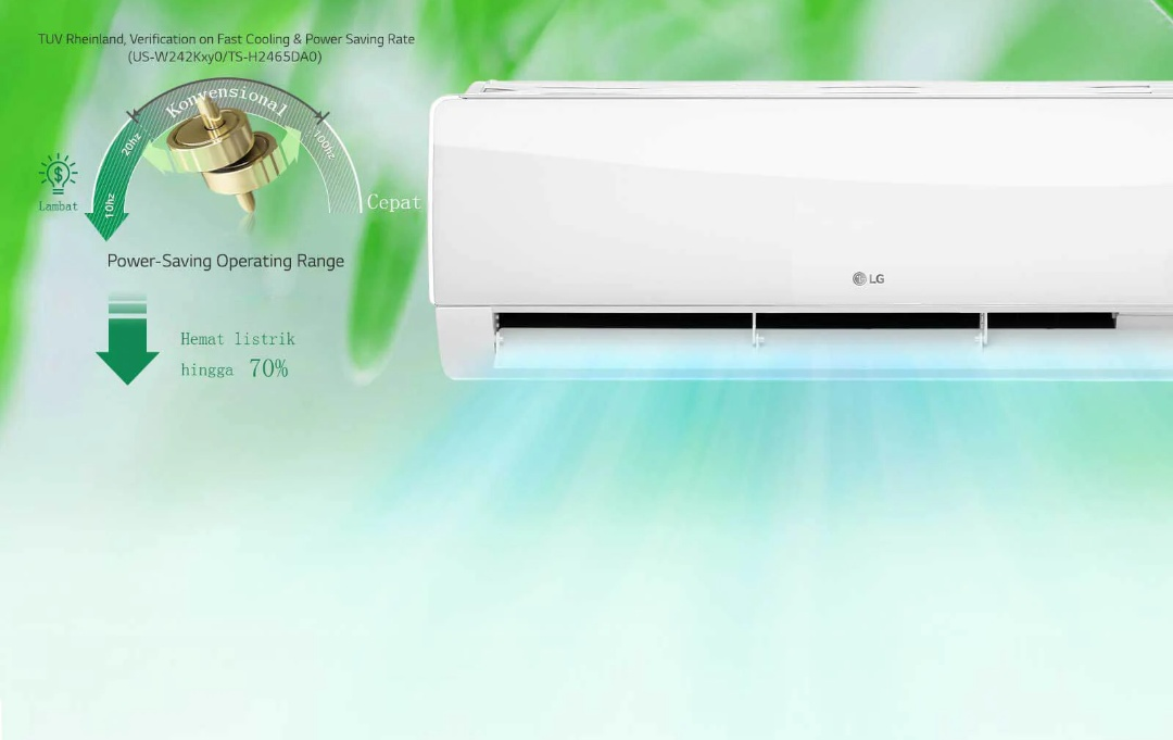 LG DUAL COOL with Watt Control-Deluxe