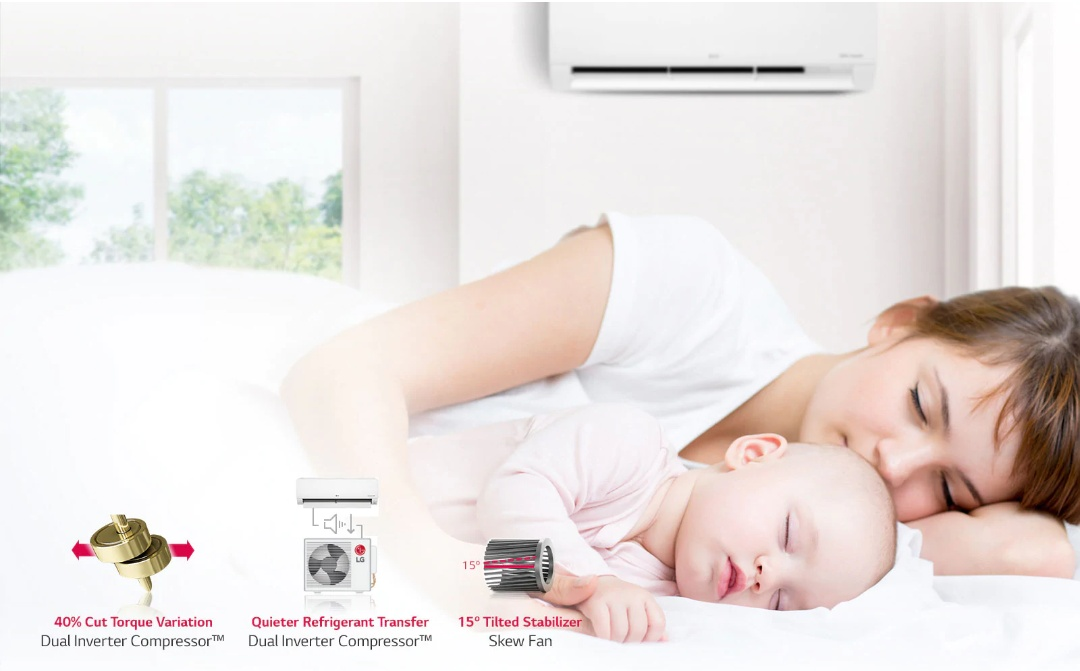 Nyaman gunakan AC Inverter LG Dual Cool