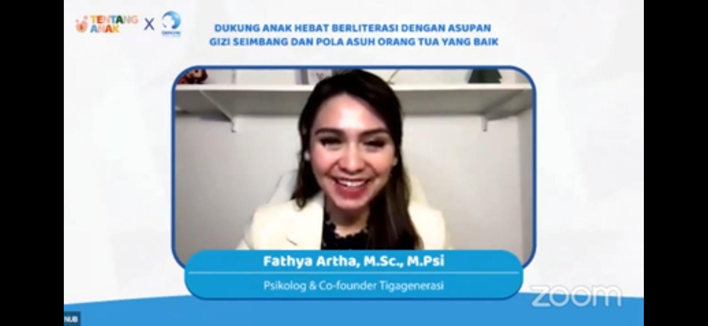 Fathya Artha, M.Sc., M.Psi , Psikolog Co-founder Tigagenerasi