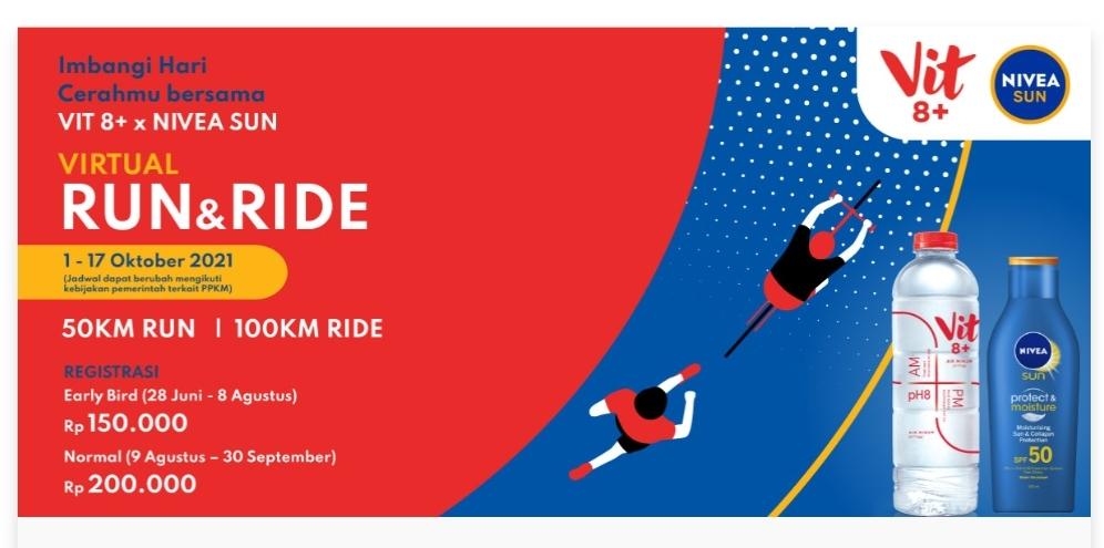 Ikutan Virtual Run & Ride bersama NIVEA SUN dan VIT 8+